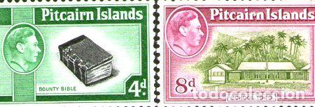 PITCAIRN SERIE COMPLETA X2 SELLOS MINT BIBLIA ESCUELA 1951 (Sellos - Extranjero - Oceanía - Otros paises)