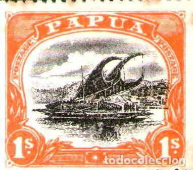 PAPUA SELLO NUEVO BARCO A VELA LAKATOI X 1S ANOS 1908 10 (Sellos - Extranjero - Oceanía - Otros paises)