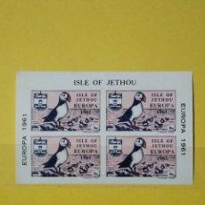 Sellos: SELLO ISLE OF JETHOU MINIHOJA RUBENS - HOJI. Lote 278540633