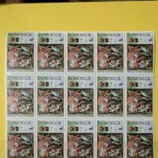 Sellos: SELLO DOMINICA PLIEGO X15 - HOJI. Lote 278540903