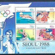 Sellos: 1988 JUEGOS OLIMPICOS SEUL NUEVA ZELANDA SELLOS MINT. Lote 278862883