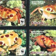 Sellos: 2014 WWF FAUNA MARINA CANGREJO AITUTAKI MINT. Lote 278862888