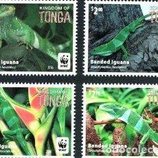Sellos: 2016 WWF REPTILES IGUANA BANDEADA TONGA SELLOS MINT. Lote 278863368