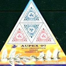 Sellos: 1997 EXPOSICION AUPEX 1997 NUEVA ZELANDA BLOQUE MINT. Lote 278864733