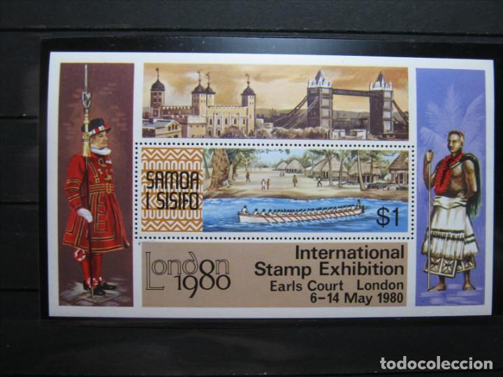 SAMOA Y SISIFO HOJA EXPO LONDRES 1980 MNH** SIN CHARNELA LUJO!!! (Sellos - Extranjero - Oceanía - Otros paises)