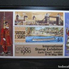 Sellos: SAMOA Y SISIFO HOJA EXPO LONDRES 1980 MNH** SIN CHARNELA LUJO!!!. Lote 282932978