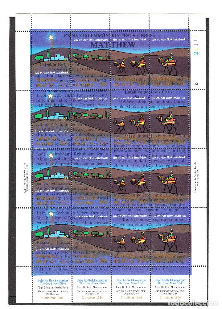 ISLAS MARSHALL SCOTT #58E MNH SHEET OF 16 CHRISTMAS ** (Sellos - Extranjero - Oceanía - Otros paises)