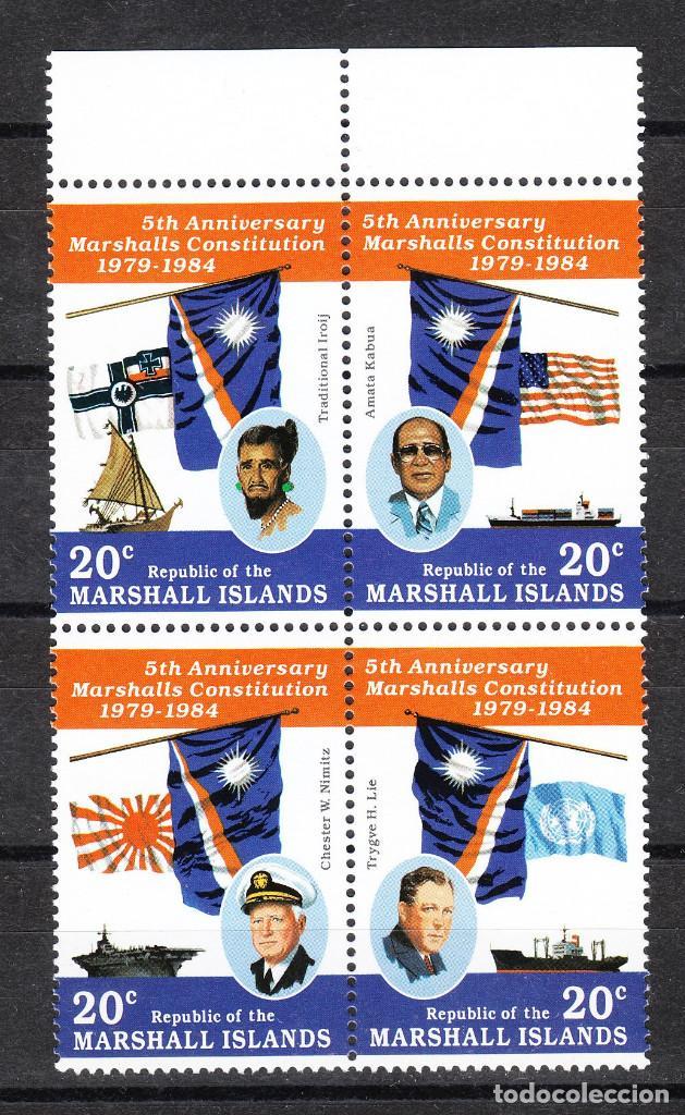 MARSHALL ISLANDS - 1984 QUINTO ANIVERASARIO CONSTITUCIÓN SERIE COMPLETA ** (Sellos - Extranjero - Oceanía - Otros paises)