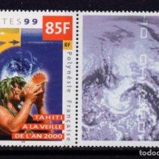 Sellos: POLINESIA 608** - AÑO 1999 - TAHITI EN EL AÑO 2000. Lote 288084033