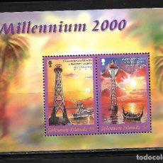 Sellos: SOLOMON ISLAS AÑO 2000, HOJA BLOQUE MILLENNIUM 2000. MNH.. Lote 288197708