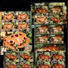 Sellos: AITUTAKI 2014 WWF CRABS 5 PERF. SHEETS MNH M.380. Lote 288535958
