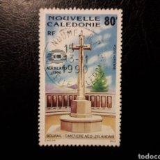 Sellos: NUEVA CALEDONIA YVERT A-269 SELLO SUELTO USADO 1990 CEMENTERIO DE BOURAIL PEDIDO MÍNIMO 3 €. Lote 289528608