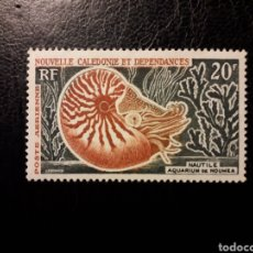 Sellos: NUEVA CALEDONIA YVERT A-68 SELLO SUELTO NUEVO *** 1955-62 FAUNA. NAUTILUS. PEDIDO MÍNIMO 3 €. Lote 289528728