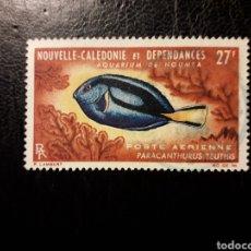 Sellos: NUEVA CALEDONIA YVERT A-77 SELLO SUELTO USADO 1965 FAUNA. PECES PEDIDO MÍNIMO 3 €. Lote 289528748