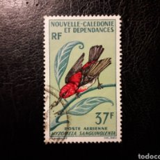 Sellos: NUEVA CALEDONIA YVERT A-89 SELLO SUELTO USADO 1966 FAUNA. AVES PEDIDO MÍNIMO 3 €. Lote 289528758