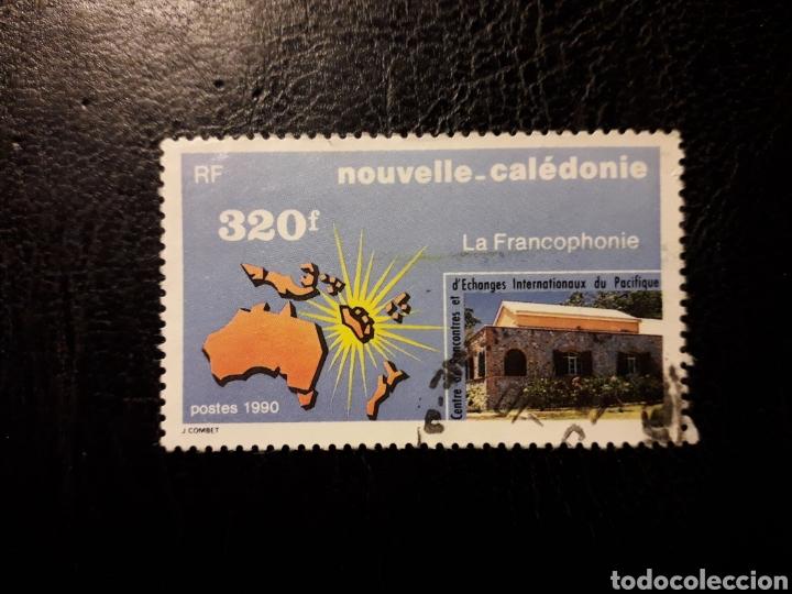 NUEVA CALEDONIA YVERT 598 SERIE COMPLETA USADA 1990 FRANCOFONÍA. MAPAS. PEDIDO MÍNIMO 3 € (Sellos - Extranjero - Oceanía - Otros paises)