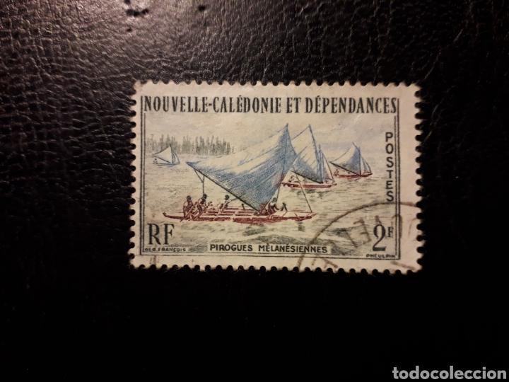 NUEVA CALEDONIA YVERT 302 SERIE COMPLETA USADA 1962 PESCA EN PIRAGUA PEDIDO MÍNIMO 3 € (Sellos - Extranjero - Oceanía - Otros paises)