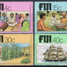 Sellos: FIJI 1979 IVERT 393/6 ** CENTENARIO DE LA LLEGADA DE EMIGRANTES INDIOS. Lote 289800163