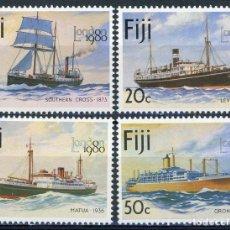 Sellos: FIJI 1980 IVERT 413/6 *** EXPOSICIÓN FILATÉLICA INTERNACIONAL - LONDON-1980 - BARCOS. Lote 289800463
