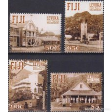 Sellos: ⚡ DISCOUNT FIJI 2015 UNESCO WORLD HERITAGE SITES - LEVUKA MNH - ARCHITECTURE, UNESCO. Lote 289979208