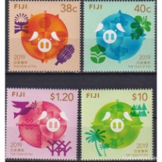 Sellos: ⚡ DISCOUNT FIJI 2019 CHINESE NEW YEAR - YEAR OF THE PIG MNH - NEW YEAR. Lote 289979343