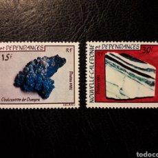 Sellos: NUEVA CALEDONIA YVERT 455/6 SERIE COMPLETA NUEVA *** 1982 MINERALES. PEDIDO MÍNIMO 3€. Lote 293640958
