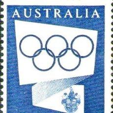 Sellos: AUSTRALIA SELLO MINT 16 OLIMPIADAS DE MELBOURNE ANO 1954. Lote 294255438