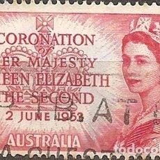 Sellos: AUSTRALIA ANO 1953 CORONACION REINA ELIZABETH I I YV 199. Lote 294255878