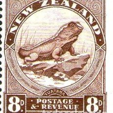 Sellos: NUEVA ZELANDA SELLO MINT LAGARTIJA TUATARA X 8P ANO 1935. Lote 294256678