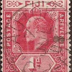 Sellos: FIJI ANO 1905 COLONIA INGLESA USADA DE COLECCION MUY RARA. Lote 294258663