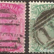 Sellos: TASMANIA COLONIA BRITANICA ANO 1878 2 V RAROS. Lote 294265858