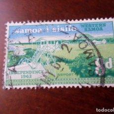Sellos: SAMOA I SISIFO, 1962, INDEPENDENCIA,AEROPUERTO DE FALCOLO, YVERT 169. Lote 294571903