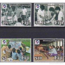 Sellos: ⚡ DISCOUNT FIJI 2018 THE 50TH ANNIVERSARY OF U.S. PEACE CORPS IN FIJI MNH - DIPLOMACY. Lote 295966363
