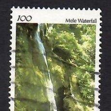 Sellos: VANUATU (1993). CASCADA DE MELE. YVERT Nº 928. USADO.. Lote 296046398