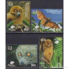 Sellos: ⚡ DISCOUNT FIJI 2015 ENDANGERED WILDLIFE - FLYING FOX MNH - THE BATS. Lote 296062263