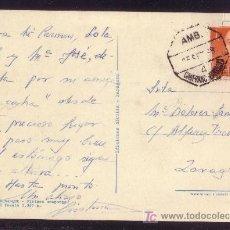 Sellos: ESPAÑA.(CAT.1153).1968.T.P.DE BENASQUE (HUESCA) A ZARAGOZA.MAT.* AMB./CANFRANC-ZARAGOZA *. MUY RARA.. Lote 24817260