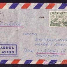 Sellos: ESPAÑA.(CAT. 945).1952.SOBRE DE CORREO AÉREO DE TENERIFE A ALEMANIA.2 PTAS. DE LA CIERVA.MUY BONITA.. Lote 22848702