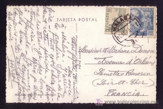 ESPAÑA.(CAT.1046,1049).1951.T.P. DE MÁLAGA A FRANCIA.15 C. CID Y 30 C. FRANCO. MAT. MÁLAGA.MAGNÍFICA (Sellos - España - II Centenario De 1.950 a 1.975 - Cartas)