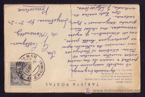 ESPAÑA.(CAT.1053).1955.T. P. DE TOSSA DE MAR A BARCELONA. 50 C. MAT. *TOSSA DE MAR/GERONA*. M. BTA (Sellos - España - II Centenario De 1.950 a 1.975 - Cartas)