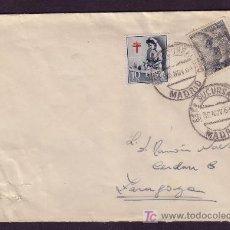 Sellos: ESPAÑA.(CAT.1053,1122).1953.SOBRE DE MADRID A ZARAGOZA. MAT. ESTAFETA URBANA DE MADRID. MUY BONITA.. Lote 25806993