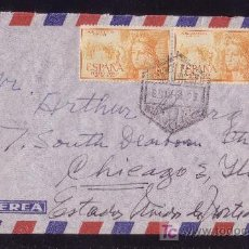 Sellos: ESPAÑA. (CAT. 1098). 1951. SOBRE DE CORREO AÉREO DE BARCELONA A EE.UU. PAREJA 90 C. ISABEL. BONITA.. Lote 23796300