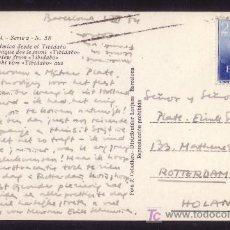 Sellos: ESPAÑA.(CAT.1119).1954.T. P. DE BARCELONA A HOLANDA. 2 PTAS. RAMÓN Y CAJAL. RARO EN CARTA.MUY BONITA. Lote 26996978