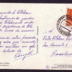 Sellos: ESPAÑA. (CAT. 1153). 1964. T. P. DE JACA A BARCELONA. 1 PTA. MAT. * JACA/HUESCA *. LUJO.. Lote 23566755