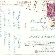 Sellos: ESPAÑA.T.P.1968.DE CÁN PICAFORT(BALEARES) A SUIZA.FRANQUEO MIXTO SELLO ESPAÑOL+VIÑETA SUIZA.M. RARA.. Lote 26082283