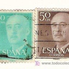 Sellos: 2 SELLOS USADOS DE FRANCO. 0,5 Y 1,5 PESETAS. AÑOS 70.. Lote 5988840