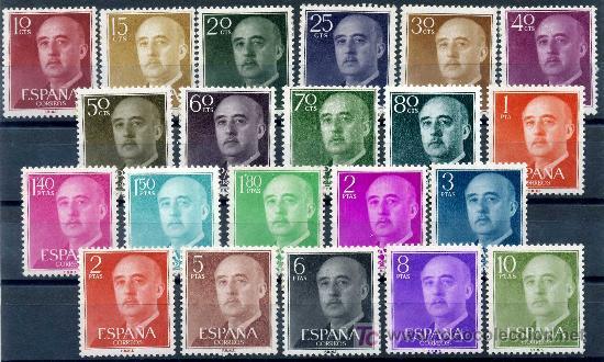 1143/63* - GENERAL FRANCO 1955/56 (NUEVO CON CHARNELA) (Sellos - España - II Centenario De 1.950 a 1.975 - Nuevos)