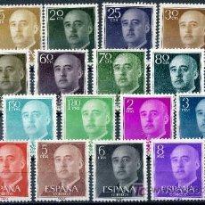 Sellos: 1143/63* - GENERAL FRANCO 1955/56 (NUEVO CON CHARNELA). Lote 10344424