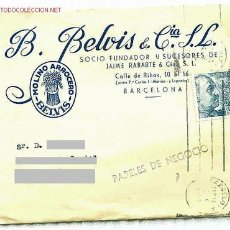 Sellos: SOBRE CON SELLO DE 30 CTS. DE FRANCO (1951) - INTERESANTE POR SUS 2 LOGOTIPOS RELACIONADOS CON ARROZ. Lote 27596770