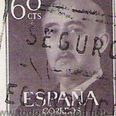 Sellos: 1 SELLO USADO---ESPAÑA---BASICA FRANCO--. Lote 10640632
