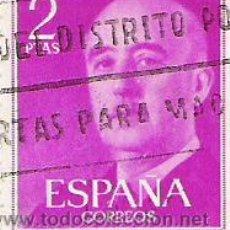 Sellos: 1 SELLO USADO---ESPAÑA---BASICA FRANCO. Lote 10647961